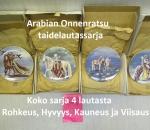Onnenratsu taidelautassarja 4 lautasta Arabia