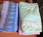 Pyyhe, fleece kankasta,  eri kokoja / värejä, 50 kpl