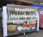 Myyntivaunu / kioskivaunu / grillivaunu, siirrettävä, käyttämätön
