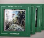 Suomalaista riistaa - taulusarja, Kermansavi, erilaiset, 4 kpl