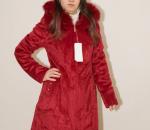 Naisten turkki, punainen, koot M - 2XL, 9 kpl