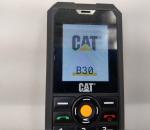 Caterpillar B30 Dual-SIM ‐matkapuhelin, musta. Ei laturia. Käytetty. Toimiva.