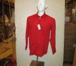 Miesten paita, punainen, koot 39-46, yht. 24 kpl, 1 ltk