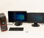 Pelitietokone Acer Predator G3-605, kaksi näyttöä