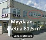 Liike- / toimistohuoneisto  81,5 m² (2h +kk)