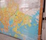 Helsingin kartta 1985 koko n. 180 x 250 cm