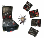 Työkalulaukku, työkalusetti alumiinilaukussa Herzberg-5001, 286 osainen, 1 kpl, räikkä kiintoavaimilla