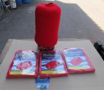 Leputtaja, fender, fendress suojapussi, punainen, 3 pkt, 6 kpl