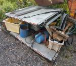 Perälautanostin pakettiautoon, 2 kpl, 1 kpl hydrauliykksikkö. Käytettyjä