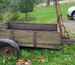 Traktorin kippi kärry / perävaunu
